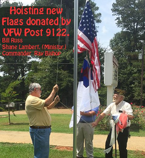 Post 9122 donates Flags to Eastside Baptist Church in Raleigh MS